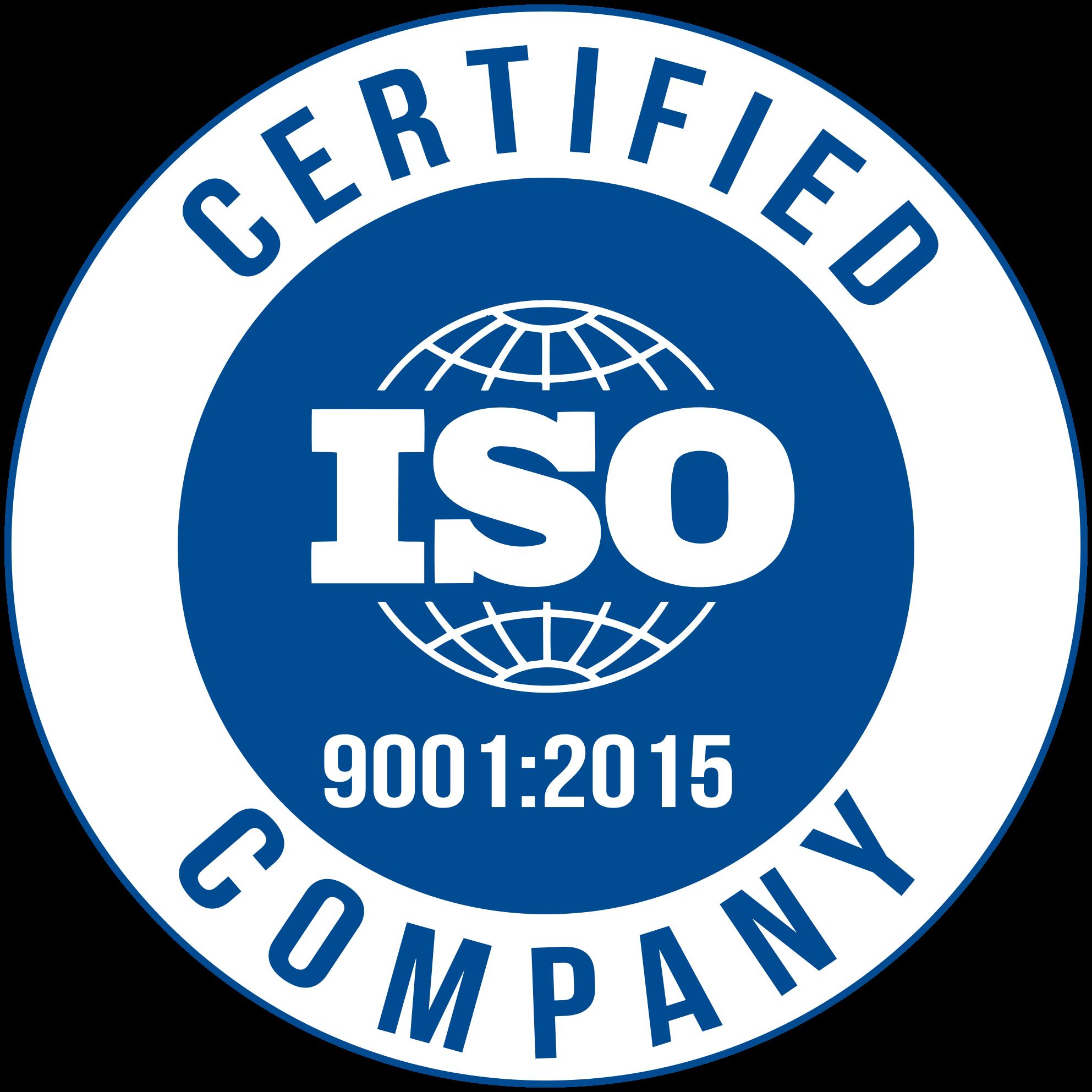 Соответствуем требованиями стандарта ISO 9001:2015